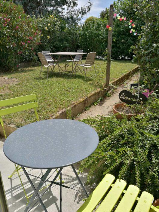 Jardin privatif L'escale coworking Rennes